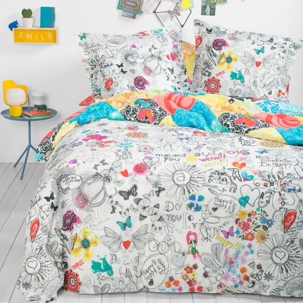 housse de couette c design home textile. Black Bedroom Furniture Sets. Home Design Ideas