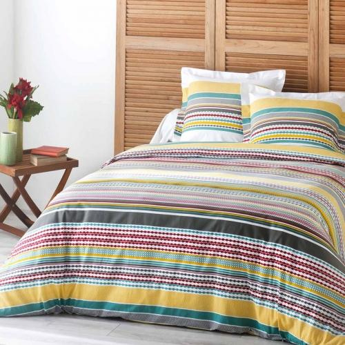 housse de couette taie mylo multi c design home textile. Black Bedroom Furniture Sets. Home Design Ideas
