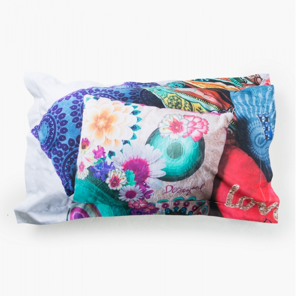 Taie d'oreiller rectangulaire - DESIGUAL - MESSY BED LEFT