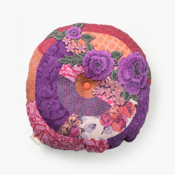 Coussin rond - DESIGUAL - ROMANTIC PATCH