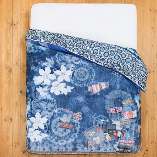 housse de couette desigual exotic jeans c design. Black Bedroom Furniture Sets. Home Design Ideas