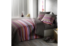 Housse de couette + taie - DANDY TAUPE