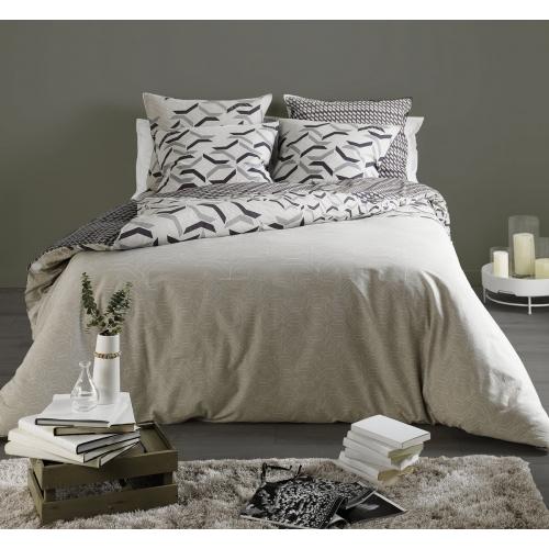 Parure de lit harmonie beige c design home textile for Parure de couette beige