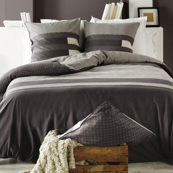 housse de couette taie kea taupe c design home textile. Black Bedroom Furniture Sets. Home Design Ideas