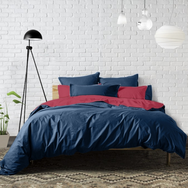 Housse de couette PERCALE Ensign Blue