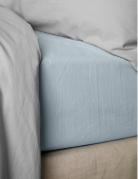 Drap housse PERCALE Pearl Blue
