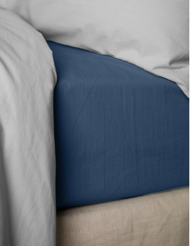 Drap housse PERCALE Ensign Blue