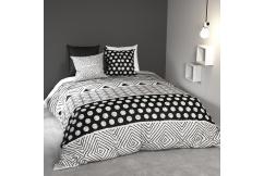 Parure de lit coton NOIR & BLANC