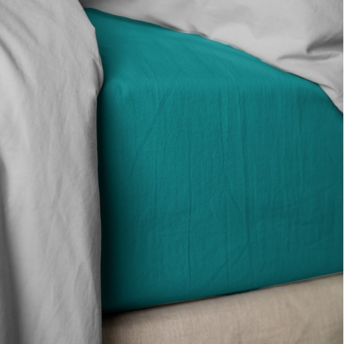 Drap housse PERCALE Lake