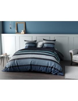 Parure de lit Percale Belize Bleue